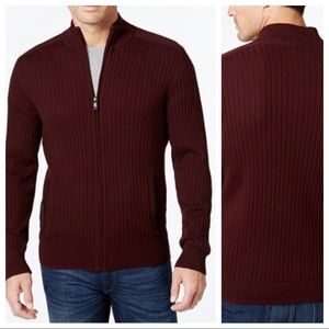Alfani | NWT Zip Up Ribbed Cotton Sweater